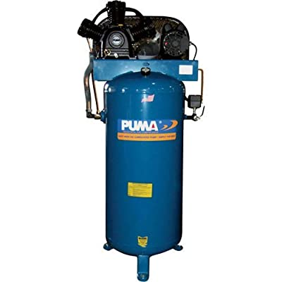 Puma Industries PK-7060V Air Compressor, Professional/Commercial Single Stage Belt Drive Series, 6.5 hp Running, 135 Maximum psi, 230/1V/Phase, 60 gal, 360 lb.