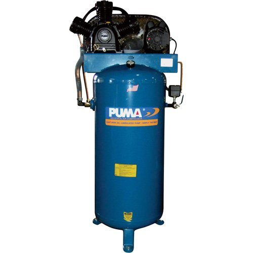 1 Phase Coupler (Puma Industries PK-7060V Air Compressor, Professional/Commercial Single Stage Belt Drive Series, 6.5 hp Running, 135 Maximum psi, 230/1V/Phase, 60 gal, 360 lb.)
