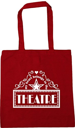 42cm Theatre Gym litres Shopping Heart In 10 Tote the Bag My Red Classic HippoWarehouse Belongs x38cm Beach Xxg1Pw8