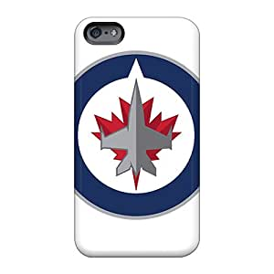 Anti-Scratch Hard Phone Covers For Apple Iphone 6 Plus With Provide Private Custom Beautiful Winnipeg Jets Image WayneSnook