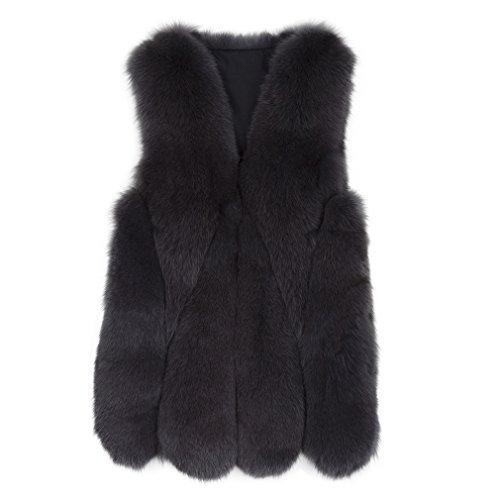 ネーピア振り子不正ファーベストレディース フォーマル毛皮ジャケット リアルフォックスファー ノー カラーコート、(ファー ストーリー)Fur Story 17218