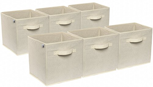 Foldable Cloth Storage Cubes 6-Pack By Deneve