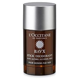 L\'Occitane Baux Deodorant for Men, 2.6 Oz