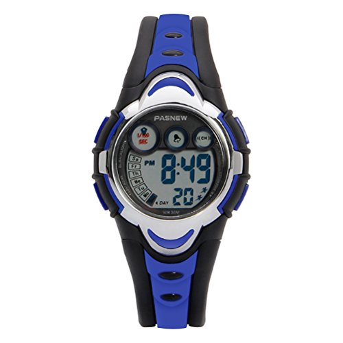 Hiwatch Youth Waterproof Watch Digital Sports Watch with Alarm Stopwatch for Kids Girls Boys Dark Blue
