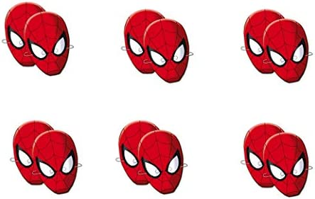 ALMACENESADAN 0555, Pack 12 caretas Spiderman, para Fiestas ...
