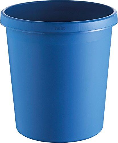 helit Papierkorb/H6105834 Ø 310mm, H 320mm blau Inh.18 l
