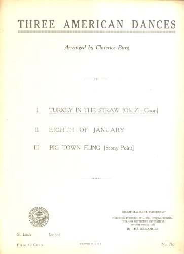 Turkey in the Straw (Old Zip Coon) with Biographical Sketch and Glossary (Progressive Series Compositions) (Straw Zip)