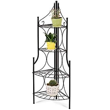 Etagère de Jardin pour Plantes | en Fer, 4 Niveaux, 29/29/106 cm | Escalier  d\'Angle, Etagère d\'Angle pour Plantes