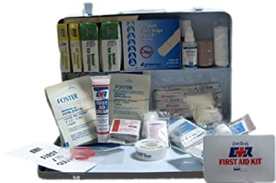 Ever Ready 50-75 Person Workplace Wall Mountable ANSI Compliant Metal First Aid Kit from Ever Ready First Aid