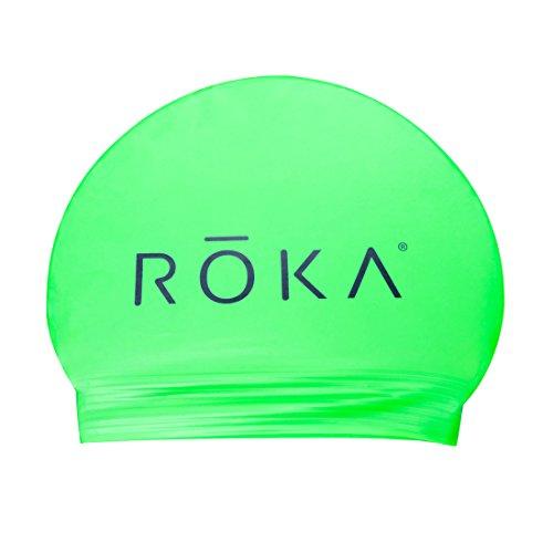 ROKA Unisex Flexible Latex Swim Cap for Men and Women - Neon - Swim Roka