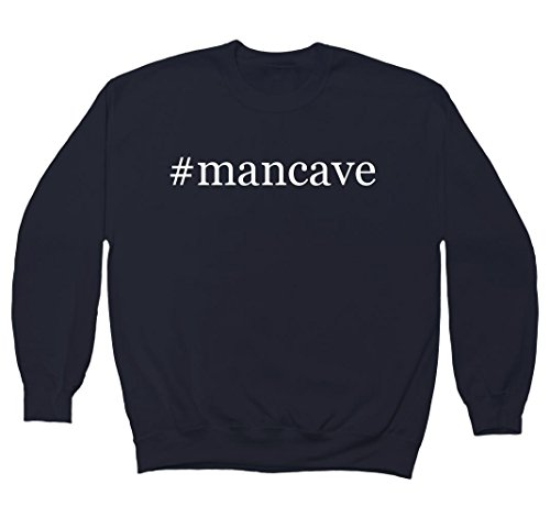 mancave-hashtag-mens-crewneck-fleece-sweatshirt-navy-x-large