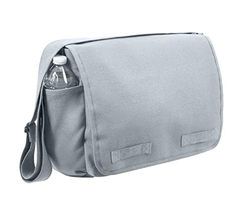 Rothco Vintage Unwashed Canvas Messenger Bag, Grey