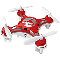 FunnyPro Mini 124 Pocket Drone 4CH 6Axis Gyro RC Micro Quadcopter with Switchable Controller(Red)