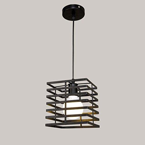 Lámpara de araña industrial de estilo vintage, lámpara de rejilla de hierro, lámpara colgante de línea de pescado,...