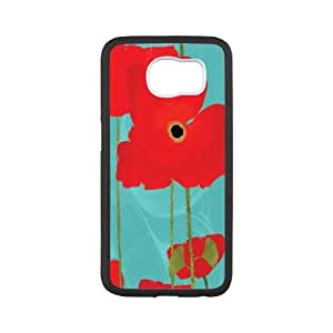 SamSung Galaxy S6 Phone Case Flowers - Beautiful red poppies