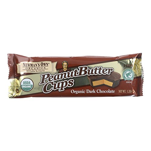 Newman's Own Organic Dark Chocolate Peanut Butter Cup, 1.2 oz