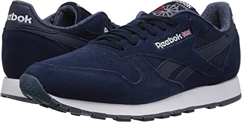 Reebok Mens Classic Leather Nm Fashion Sneaker College Blu / Bianco