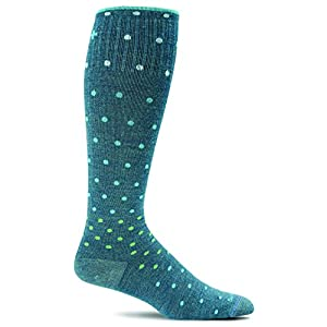 Sockwell Women's On The Spot Graduated Compression Socks-Ideal for-Travel-Sports-Nurses-Pregnancy-Reduces Swelling , Teal, Medium/Large