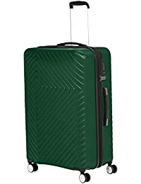 Geometric Travel Luggage Expandable Suitcase Spinner with Wheels and Built-In TSA Lock, 31.3-Inch - Green