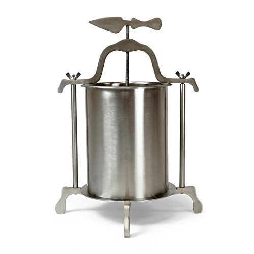 Whey Station Stainless Steel Base Cheese Press Cylinder For Making Small Batch Of Homemade Cheese