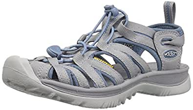 KEEN Shoes Women's Whisper Sandal Sandals, Blue Shadow and Alloy, 6 AU/US