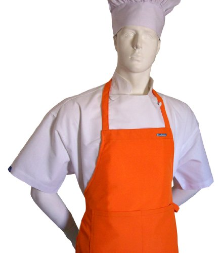 chefskin-adult-apron-orange-ultra-lightweight-cool-fresh-very-comfortable-center-pocket-and-long-tie
