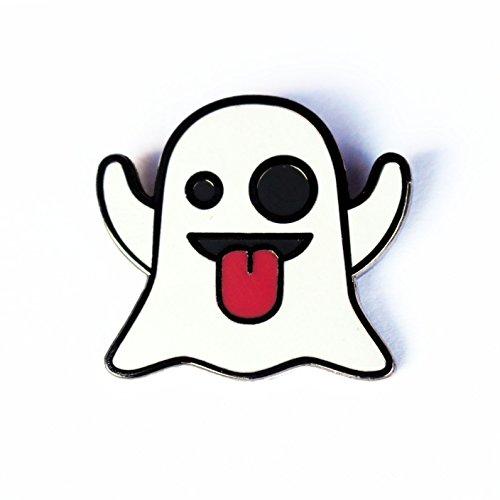 Best Horror Themed Costumes (Ghost Emoji Enamel Pin by Real Sic – Halloween Pins Series - Cute Kawaii Snapchat Lapel Pin)