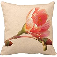 AHArtSaleStore O26L Apricot Sunset Throw Pillow 18 X 18 Square Pillowcase