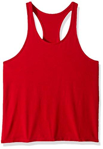 YAKER Mens Blank Stringer Y Back Bodybuilding Gym Tank Tops