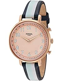 Women's Stainless Steel Hybrid Watch with Leather Strap, Multi, 14 (Model: FTW5051)
