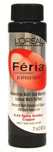 loreal-feria-color-543-24-oz-spicy-golden-copper-pack-of-6-by-loreal-paris