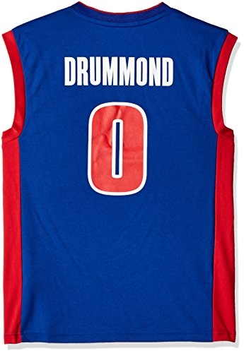 Andre Drummond #0 Men's Replica Jersey, X-Large, Blue (Adidas Detroit Pistons Basketball)