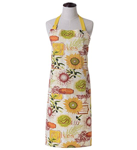 KINGO HOME Women Bib Kitchen Apron, with Pockets, Cotton Canvas, Machine Washable