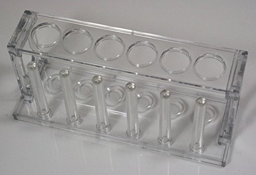 6 Place Acrylic Plastic Test Tube Rack w/22mm Openings ()