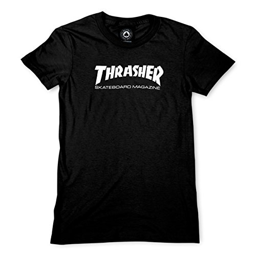 Thrasher Mag Logo Girls T-Shirt [Large] Black by Thrasher Magazine