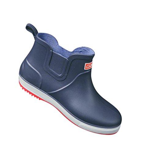 Blu Impermeabili Xinwcang Antiscivolo Martin Stivali da Pioggia Uomo Boot Stivaletti per Scarpe n8rCPqH8wx