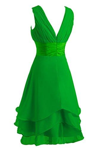 ivyd ressing Mujer utilizada V de recorte Traeger gestuft gasa novia junfern vestido fijo vestido Fiesta Vestido para vestido de noche Verde
