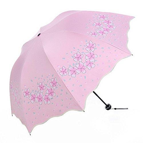 Gentle Meow Vinyl Sun Umbrella UV Protection Umbrella Three-fold Dual-use Umbrella Lake Blue by Gentle Meow