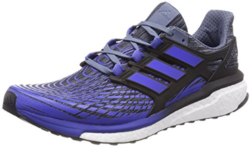 adidas Energy Boost M, Zapatillas de Running Para Hombre, Varios Colores (Raw Steel/Hi-Res Blue/Core Black 0), 42 2/3 EU Varios colores (Raw Steel / Hi-Res Blue / Core Black 0)