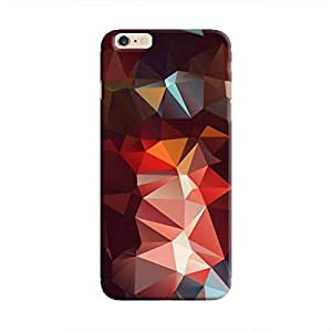 Cover It Up - Dark Red Pixel Triangles Apple Iphone 6/6s Hard Case