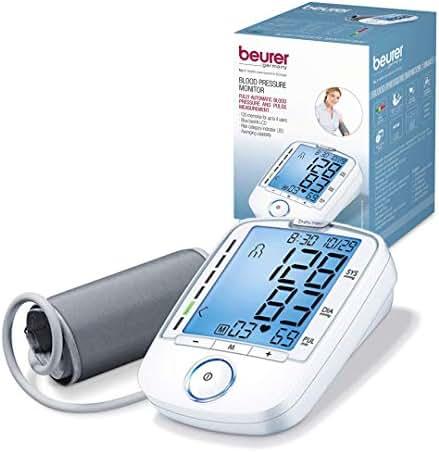 Beurer Upper Arm Blood Pressure Monitor, Blood Pressure Monitor Cuff, Multi-Users, Automatic, Illuminated Display, BM47