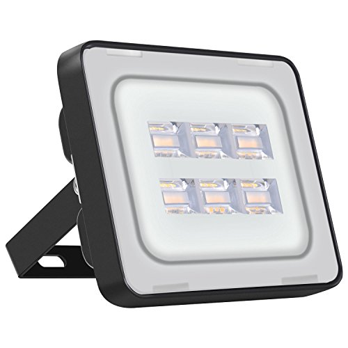 Viugreum 20W LED Flood Light Outdoor, Thinner and Lighter Design, Waterproof IP65, 2000LM Warm White(2800-3000K), Super Bright Security Lights, for Garden, Yard, Warehouse, Square, Billboard