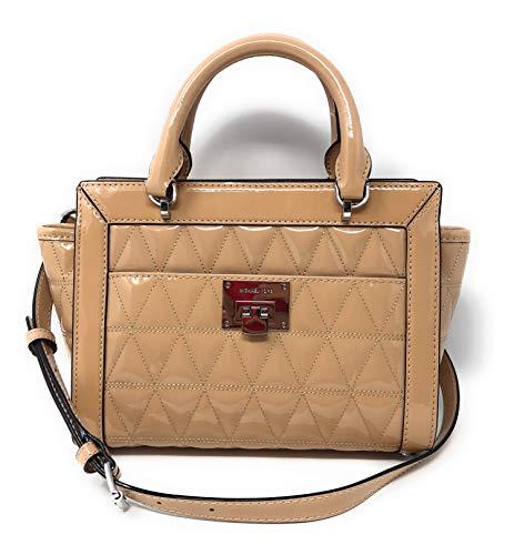 Michael Kors Vivianne Small Top Zip Patent Leather Messenger Bag Handbag in ()