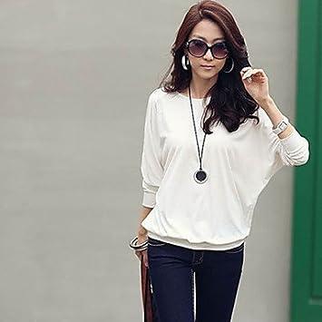 Mujer Camisas y blusas de mujer Casual para Trabajo Plus tamaños Micro elástico manga larga Regular
