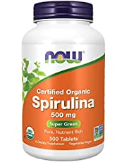 Now Foods Certified Organic Spirulina Tablets, 500mg, 500ct