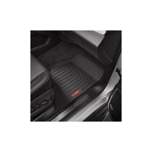 2015 GMC Yukon Black GM Front Premium All Weather Floor Mats - 23452756 by General Motors (Image #1)
