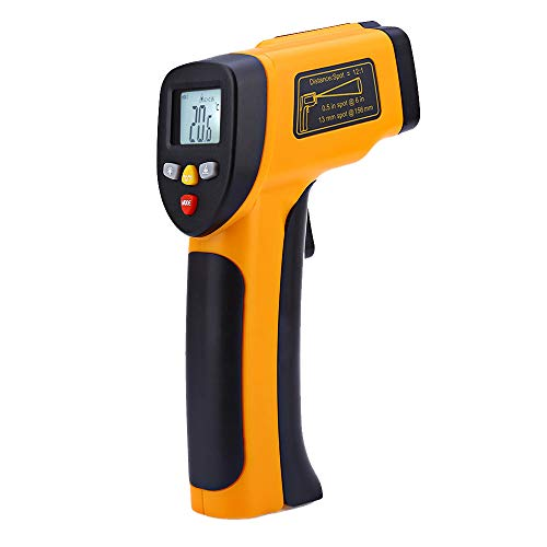 Mengshen High Precision Non-contact IR Digital Infrared Thermometer Temperature Gun Tester Pyrometer Laser Point Range -50 to 450°C(-58 to 842°F) MS-M812 - Infrared Calibration Thermometer