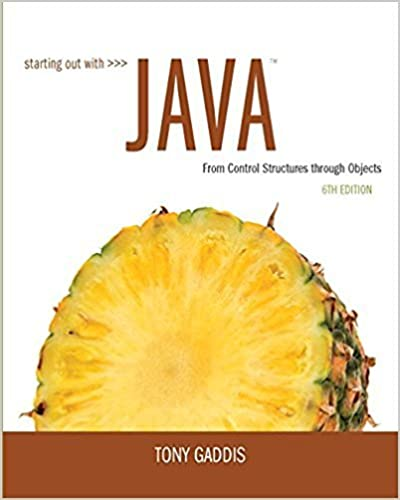 Starting out with java from control structures through objects 6th starting out with java from control structures through objects 6th edition 6th edition fandeluxe Image collections