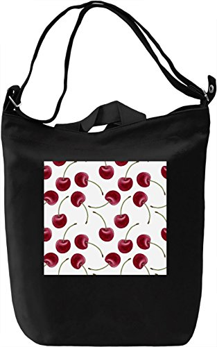 Cherry Print Borsa Giornaliera Canvas Canvas Day Bag| 100% Premium Cotton Canvas| DTG Printing|