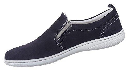 Slipper schwarz und 41 innen Halbschuhe Leder Loafers Schuhe Blau 47 außen blau 42 Herren 46 43 45 44 Freizeitschuhe gnYvIqq